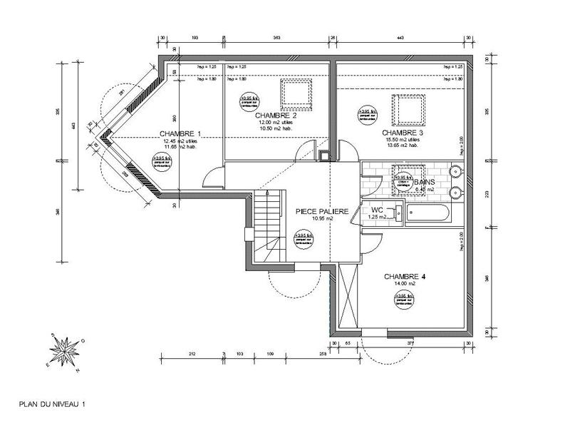 Plan de maison sur un terrain triangle for Maison en triangle